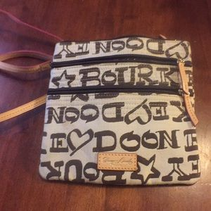 Authentic tan and brown crossbody purse